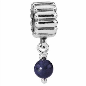 🌟Pandora Silver Lapis December Birthstone Dangle